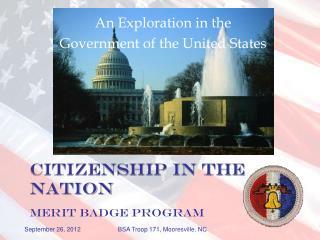 Citizenship in the Nation MERIT BADGE PROGRAM