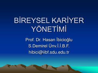 BIREYSEL KARIYER Y NETIMI