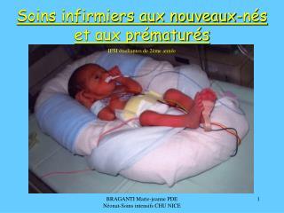 Soins infirmiers aux nouveaux-nés et aux prématurés IFSI étudiantes de 2ème année