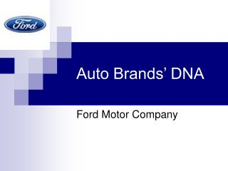 Auto Brands' DNA