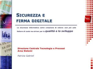 Sicurezza e firma digitale