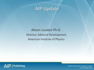 AIP Update