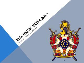 Electronic  media 2013