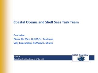 Coastal  Oceans and Shelf Seas Task Team