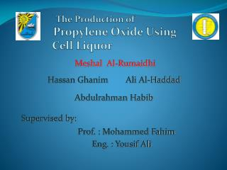 The Production of Propylene Oxide Using             Cell Liquor