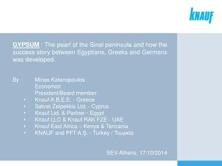 Knauf Egypt : From 1998 to today