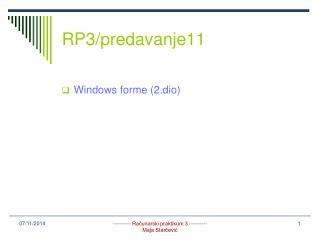RP3/predavanje11