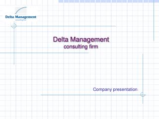 Delta Management consulting firm