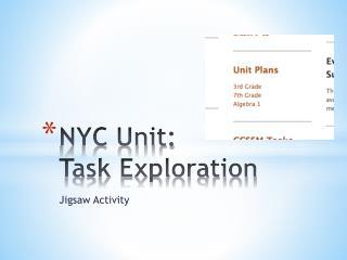 NYC Unit: Task Exploration