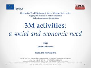 3M activities : a  social and economic need