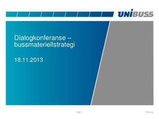Dialogkonferanse  – bussmateriellstrategi