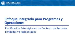 Enfoque Integrado para Programas y Operaciones