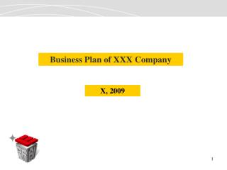 Business Plan of XXX Company