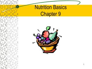 Nutrition Basics Chapter 9