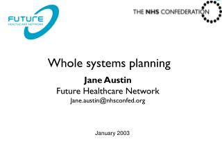 Whole systems planning