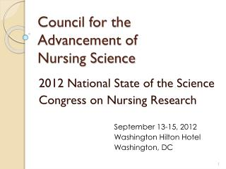 Council for the Advancement of  Nursing Science