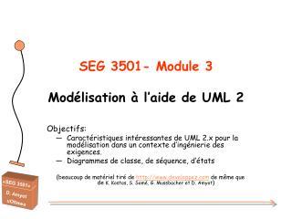 SEG 3501- Module 3 Modélisation à l'aide de UML 2