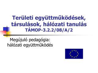 Területi együttműködések, társulások, hálózati tanulás TÁMOP-3.2.2/08/A/2