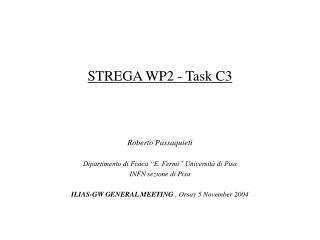 STREGA WP2 - Task C3