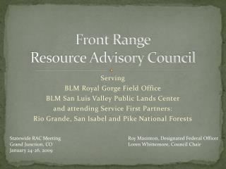 Front Range Resource Advisory Council