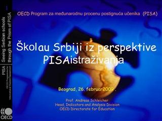kola u Srbiji iz perspektive PISA istra ivanja