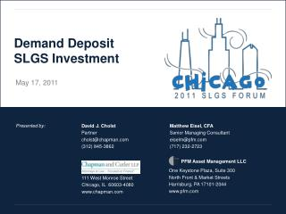 Demand Deposit SLGS Investment