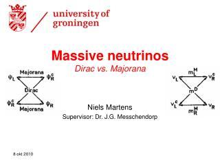 Massive neutrinos Dirac vs. Majorana