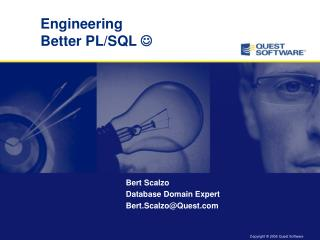 Engineering Better PL/SQL  