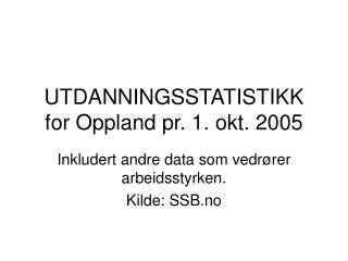 UTDANNINGSSTATISTIKK for Oppland pr. 1. okt. 2005