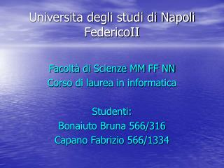 Universita degli studi di Napoli FedericoII