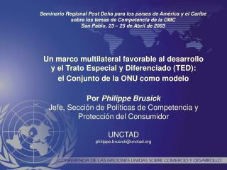 I. La necesidad de la Cooperación Internacional