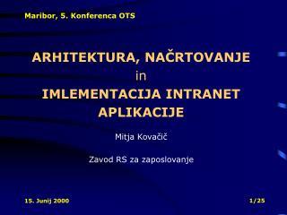 Maribor, 5. Konferenca OTS