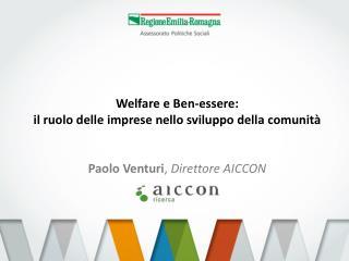 Welfare e Ben-essere:  il ruolo delle imprese nello sviluppo della comunità