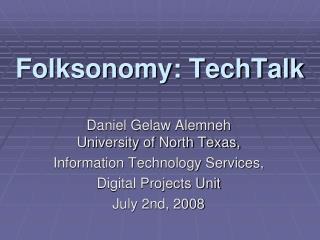 Folksonomy: TechTalk