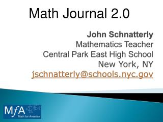 Math Journal 2.0