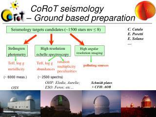 CoRoT seismology