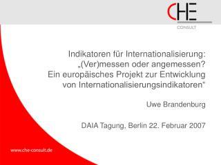 Uwe Brandenburg DAIA Tagung, Berlin 22. Februar 2007