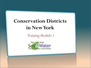 Conservation Districts  in New York