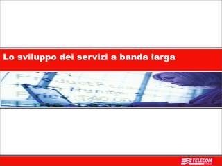 Lo sviluppo dei servizi a banda larga