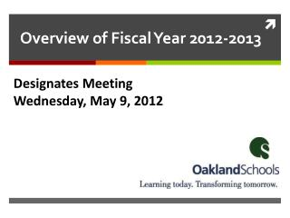 Designates Meeting Wednesday, May 9, 2012