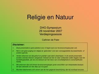 Religie en Natuur