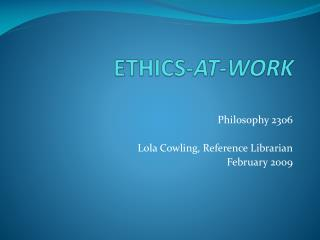ETHICS- AT-WORK