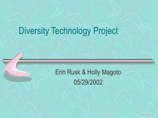 Diversity Technology Project
