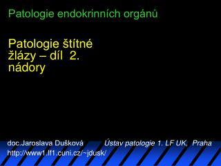 Patologie endokrinn ch org nu