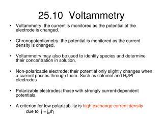 25.10  Voltammetry