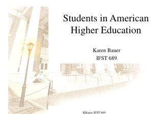 Students in American Higher Education