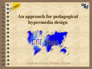 An approach for pedagogical hypermedia design