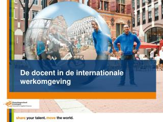 De docent in de internationale  werkomgeving