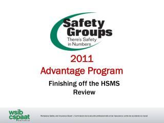 2011 Advantage Program
