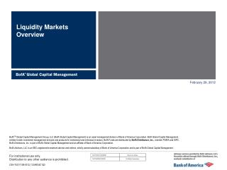Liquidity Markets Overview